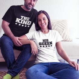 тениски за двойки the king his queen
