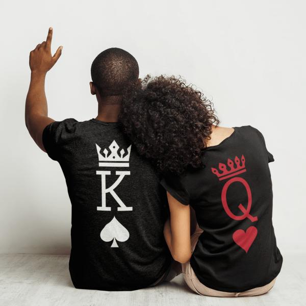 Тениски за двойки - teniski_za_dvoiki_King Spade Queen Heart